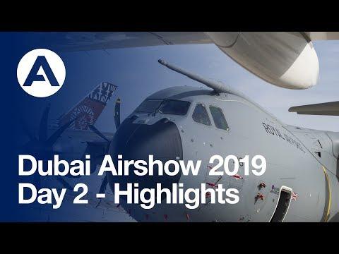 #DubaiAirshow 2019: Day 2 - Highlights
