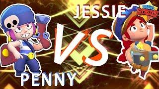 【攻略 】召喚炮台對決 Jessie潔西 vs Penny佩妮 (中文字幕)|荒野亂鬥 Brawl Stars