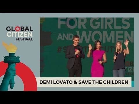 Demi Lovato Calls for Mental Health Aid for Refugees | Global Citizen Festival NYC 2017