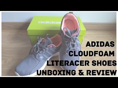 adidas neo cloudfoam lite racer w bb9841 unboxing, cerca di revisione