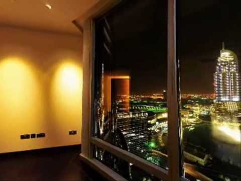 Apartment Inside Night burj khalifa apartment with stunning views - youtube
