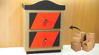How to make Amazing furniture DIY at home very simple recycled crafts   Cardboard furniture