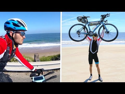 Cycling Across USA - Ep.15 - Pacific to Atlantic Ocean