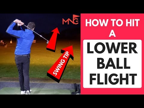 How To Lower Your Ball Flight Golf Swing Tip