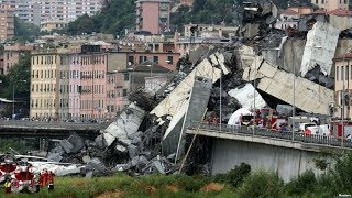 видео Число жертв обрушения моста в Генуе выросло до 35 человек