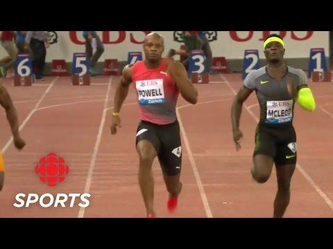 Asafa Powell is the fastest man in Zürich   CBC Sports