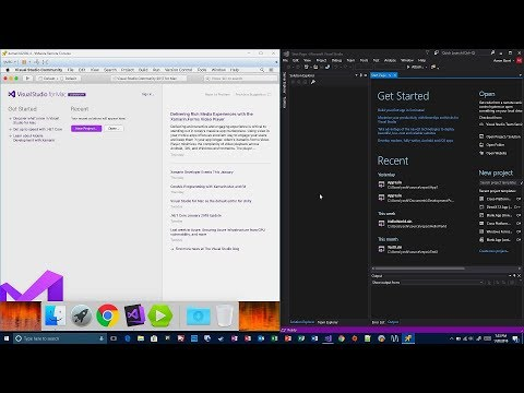 Visual Studio Community 2017 Mac and PC Differences