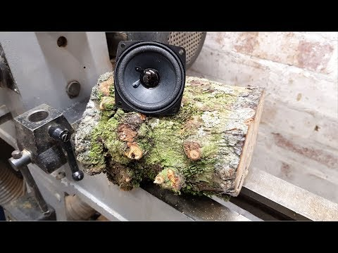 Woodturning - Log to Speaker 100k Giveaway too!