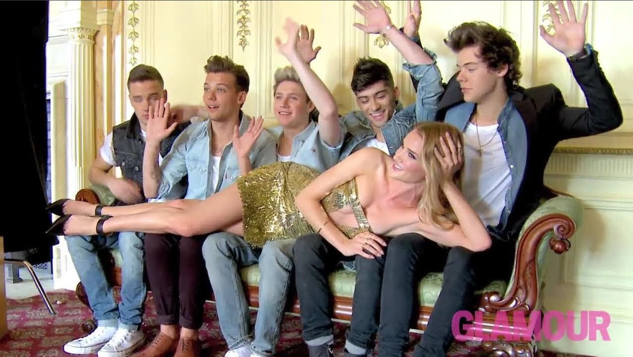 One Direction Behind The Scenes Glamour Photo Shoot Youtube