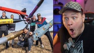 Model Rocket Battle 2 | Dude Perfect - ...
