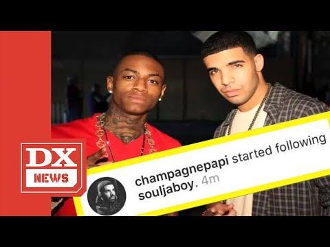 Drake Unfollows The Weeknd On Instagram & Follows Soulja Boy Instead