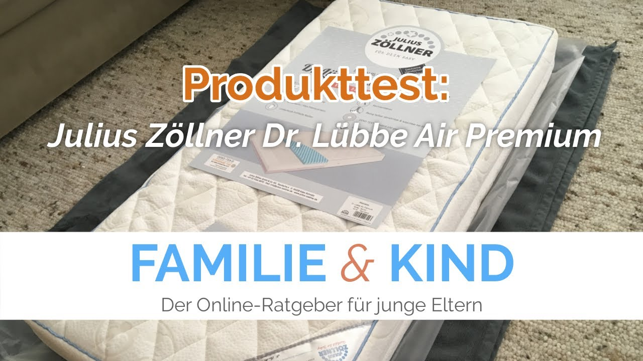 julius z llner dr l bbe air premium babymatratzen test von familie kind youtube. Black Bedroom Furniture Sets. Home Design Ideas