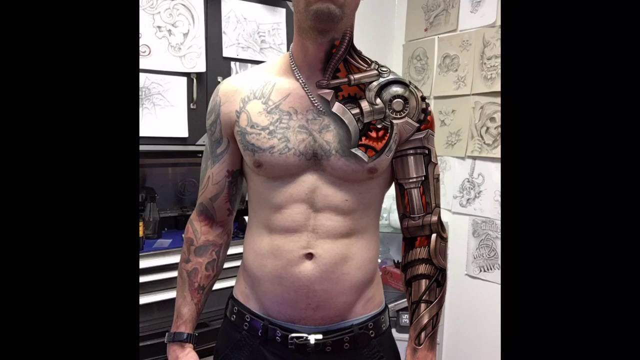 Images Of Biomechanical Tattoos: Speedpainting Biomechanical Tattoo!