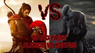 kratos vs Alexios - speed paint (parte 1)