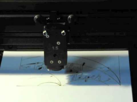 Laser cutting paper card stock - OSBP logo