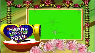 Beautiful _ Happy New Year 2019_ Animation Background Video Cool Green Screen Effects