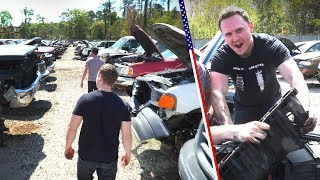 Pulling Parts In An American Junkyard Is The Ultimate Day Out