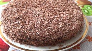Торт на кефире со сметанным кремом