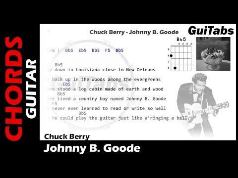 Chuck Berry - Johnny B. Goode ( Lyrics and GuiTar Chords ) 🎸