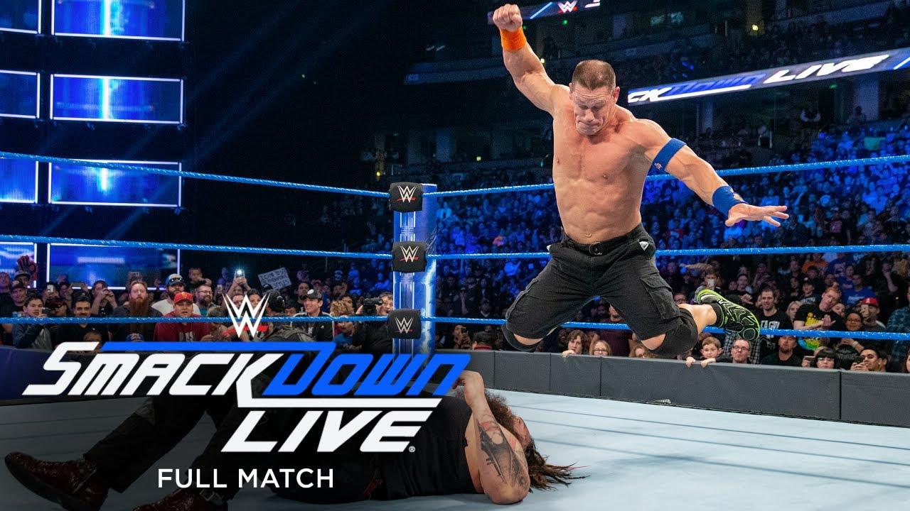 Download FULL MATCH - Bray Wyatt vs. John Cena vs. AJ Styles – WWE Title Match: SmackDown Feb. 14, 2017