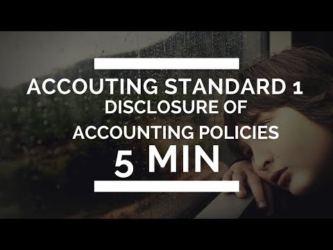 Accounting Standard 1 :Disclosure of Accounting Policies [ Accounts Lectures for CA,CS & CMA ]