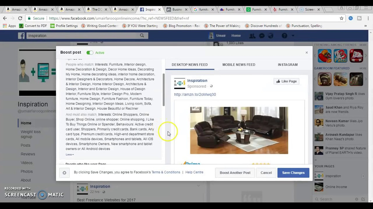 how to sell affiliate products on facebook