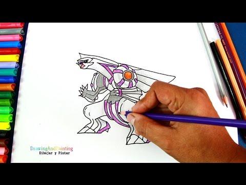 How to draw PALKIA (Pokemon) | Cómo dibujar a Palkia (Pókemon) - YouTube