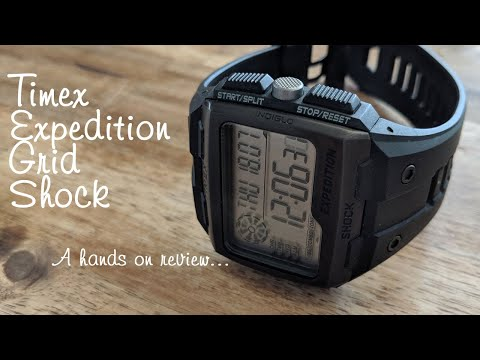 Timex Expedition Grid Shock Digital Watch - Hands On Review