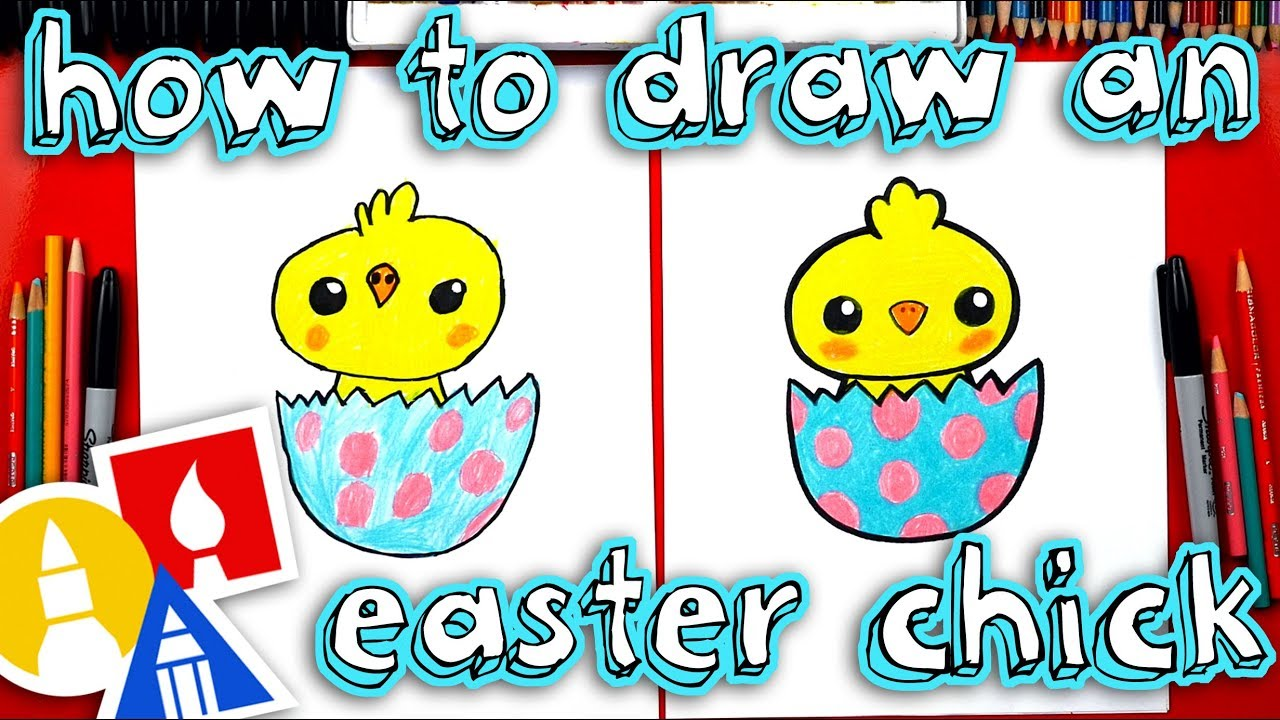 How To Draw An Easter Chick Youtube