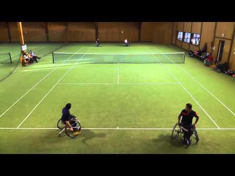 Deutsche Meisterschaft Rollstuhltennis in Burgau 2015 - Endspiel Herren Doppel erster Satz