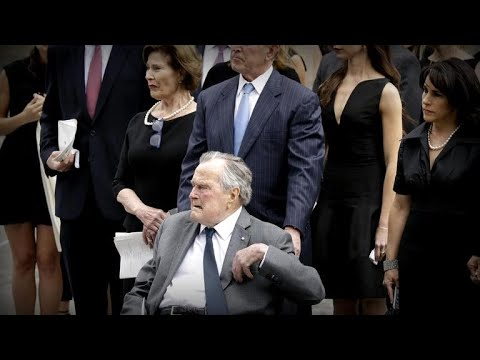 George H.W. Bush hospitalized after wife's funeral
