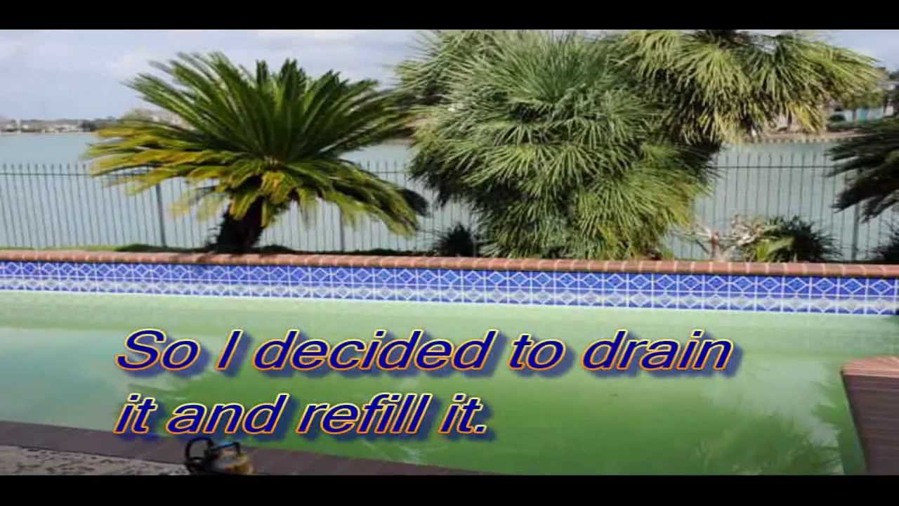 How to drain clean a dirty swimming pool youtube - How to clean a dirty swimming pool ...
