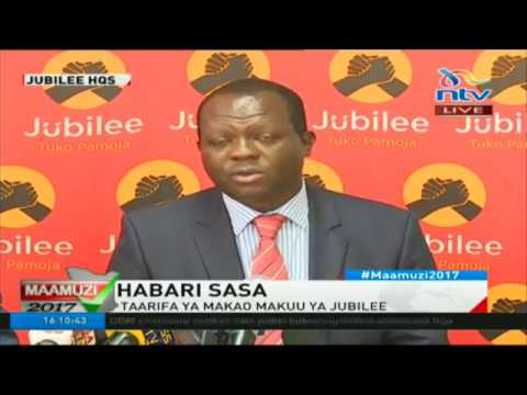 Jubilee Primaries postponed in 11 counties