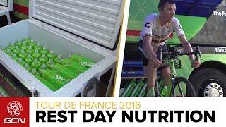 What Do Tour De France Riders Eat On A Rest Day? With Cannondale-Drapac   Tour De France 2016
