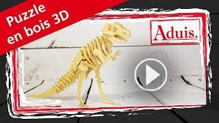 Puzzle en bois 3D dinosaure