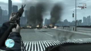 GTA IV grand theft auto Gameplay (GTA 4) PC Faster police ATi Radeon HD 5870 1Gb GDRR5