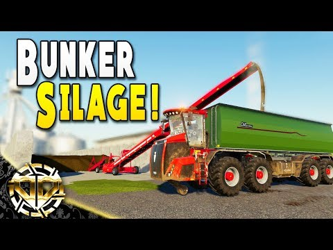 BUNKER SILAGE AND NEW COW STABLES - Farming Simulator 19 Gameplay