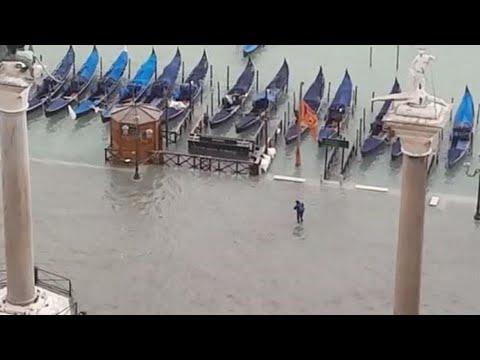 Venezia, Piazza San Marco come un enorme lago