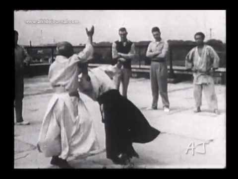 Aikido Master Morihei Ueshiba Highlights Of Takemusu Aiki   Youtube