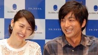 女優の長澤まさみ(26)と俳優の大沢たかお(46)が22日、都内で行われ...