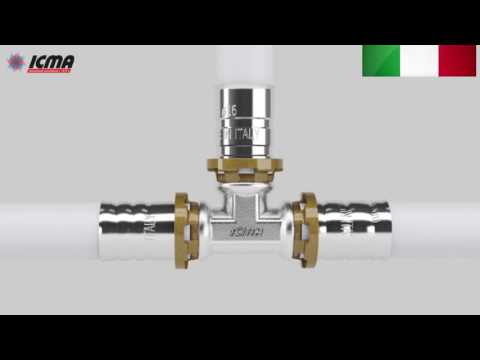 Пресс фитинг ICMA для пластиковой и металлопластиковой трубы с технологией Sempiter.