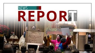 Catholic — News Report — Pro-Aborts Storm Cathedral