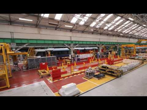 Elizabeth line train time lapse