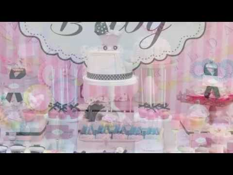 Decoracion de mesas para baby shower ni o youtube - Mesa de baby shower nino ...