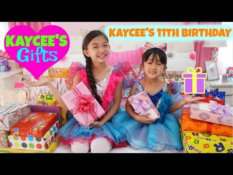 KAYCEE'S GIFT OPENING Kaycee's 11th Birthday