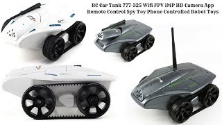 RC Car Tank 777-325 Wifi FPV 1MP HD Camera App Remote and Phone Controlled Robot Toys