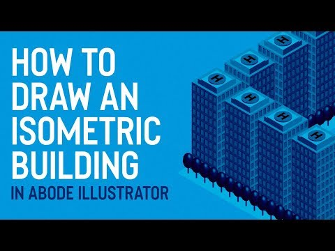ILLUSTRATOR TUTORIAL | How to Draw an Isometric Building thumbnail