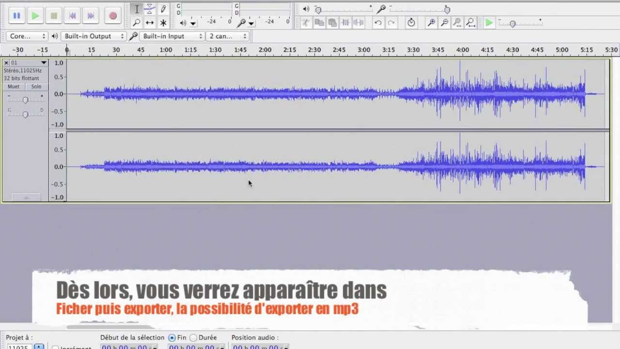 ENCODEUR MP3 AUDACITY TÉLÉCHARGER