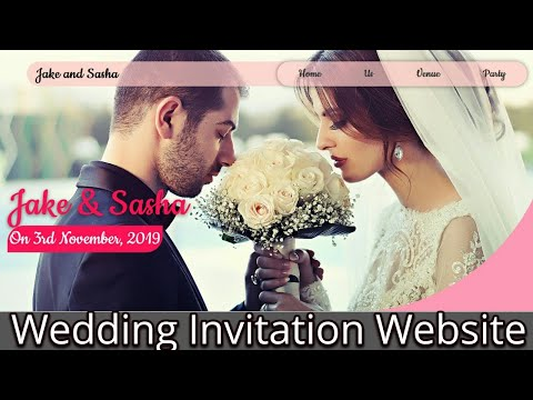 Wedding Invitation Website|Html|Css|Responsive