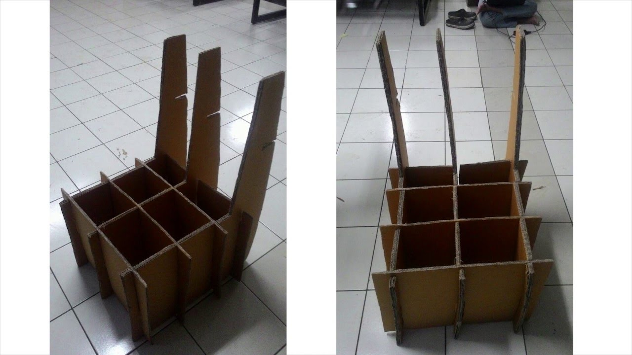 Corrugated Cardboard Chair corrugated cardboard chair - tutorial and assembly - kelompok 1
